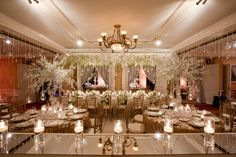 mirrored tables wedding - Google Search
