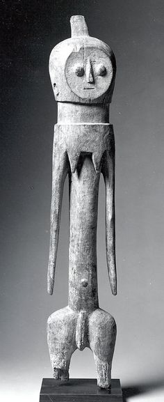 Figure: Female    Date:      19th–20th century  Geography:      Togo  Culture:      Moba peoples  Medium:      Wood  Dimensions:      H x W x D: 30 7/8 x 5 3/4 x 4 5/8in. (78.4 x 14.6 x 11.8cm)  Classification:      Wood-Sculpture