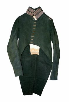 Habit surtout from an douanes imperiales lieutenant in 1809. Stripes on the collar showing his rank, this model of silver embroided stripes is unique. (privat collection Canada).