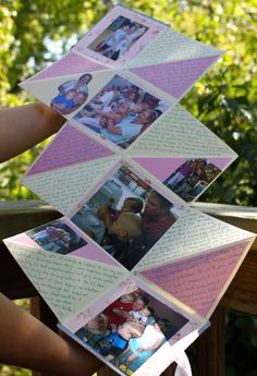 Do It Yourself Scrapbook by Rainy Day Sunday. Great idea for gifts!!!!  #scrapbook #minimemorykeeper #gift