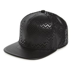 Men's Gents 'Pat' Print Snapback Cap ($68) ❤ liked on Polyvore featuring men's fashion, men's accessories, men's hats, black, mens snapbacks, mens snapback hats, mens caps and hats, mens hats and mens caps