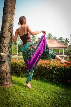 Your place to buy and sell all things handmade Thai Harem Pants, Thailand Fashion, Bohemian Style, Tie Dye Skirt, Vintage Antiques, Style Me, Arts And Crafts, Turquoise, Retro