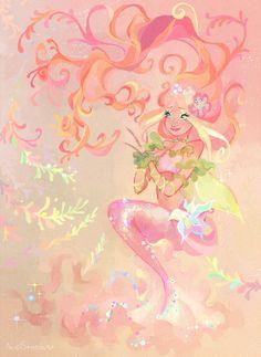 Flora mermaid by AxelStardust