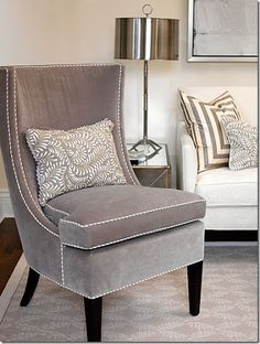brown chair with white piping - Google Search