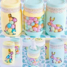 An Easter candy jar can serve as a gift that you can give to anyone. But whether you use it as Easter decorations or as gifts, you can be sure that it will boost the mood and please the eye. Are you ready to discover how to customize mason jar gifts and pieces of decor? Let's go! #eastercandyjars, #eastercandyjarideas, #easterdecorations, #eastergifts