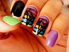 Hawaii nails...maybe on the pinky nail