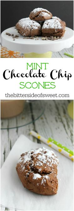 Mint Chocolate Chip Scones | The Bitter Side of Sweet #BakeTheDifference #sponsored
