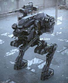 Mech by our friend Gavriil. Keywords: realistic concept robot battle mech design by gavriil klimov three dimensional model rende. Rpg Cyberpunk, Mekka, Sci Fi Weapons, Robot Concept Art, Science Fiction Art, Steampunk, War Machine, Sci Fi Art, Vampires