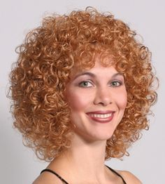 Lucy Wig-Synthetic Medium Wigs By Mona Lisa Synthetic Fiber Medium Wig from Mona Lisa. Short Permed Hair, Permed Hairstyles, Hairdos, Spiral Curls, Colored Curly Hair, Synthetic Wigs, Hair Type, Hair Goals, Perms