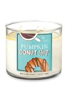 Home Fragrance - Pumpkin Donut Shop Candle – Bath And Body Works Informations About Home Fragrance Pin You c - Bath Candles, 3 Wick Candles, Scented Candles, Bath Body Works, Fall Scents, Home Scents, Best Smelling Candles, House Smell Good, Donut Shop