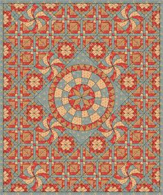 Esther's Quilt Blog: 'Hazel' my new free BOM for 2016