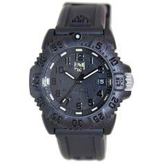 Luminox Women's SEA 7051.BO Black Rubber Quartz Watch with Black Dial