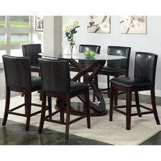Greyson Living Domino Counter height Espresso Dining Table by