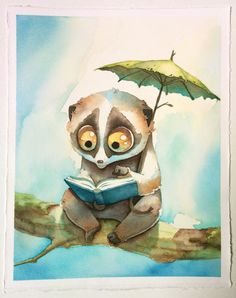 Slow Loris Watercolor
