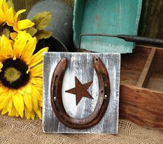 Barn board signs on pinterest wooden american flag barn for Wooden horseshoes for crafts