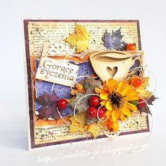moje papierowe hobby: jesienna kartka