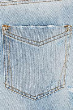 Light-blue denim Partially concealed button fastenings along front cotton; Denim Trends, Roberto Cavalli, Boyfriend Jeans, Pockets, Ideas