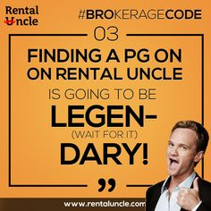Finding a PG on ‪rental‬ uncle is going to be: Legen Wait for it Dary. Book your PG now: www.rentaluncle.com ‪