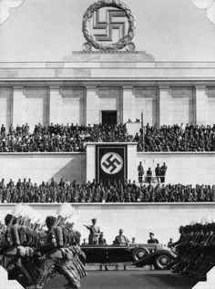 Reich Labor Service battalions parade before Hitler during the Nazi Party Congress. Nagasaki, Hiroshima, Fukushima, European History, American History, Nuremberg Rally, Nuremberg Germany, Operation Barbarossa, Berlin