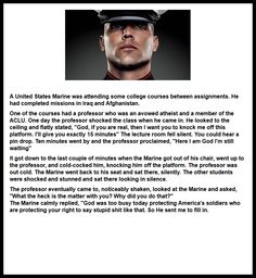 Real men vs. liberal teaching boys.  Hint: The Marine won.