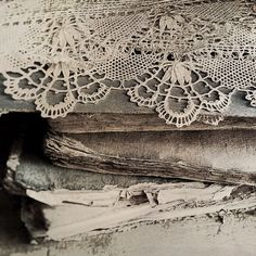 French Antique Lace Trim. Handmade 19th C Cluny Lace. Exquisite... ($84) ❤ liked on Polyvore featuring backgrounds