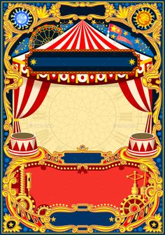 Buy Circus Editable Frame Vector by aurielaki on GraphicRiver. Vintage template with circus tent for kids birthday party invitation or post. Quality vector i. Carnival Birthday Invitations, Kids Birthday Party Invitations, Birthday Invitation Templates, Ticket Invitation, Circo Do Mickey, Circus Tickets, Birthday Party Games For Kids, Circus Theme Party, Carrousel