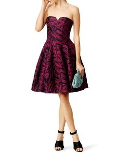 Rent the Runway pink fall wedding guest dress