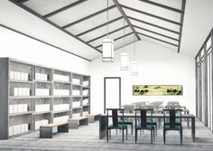 "Yixin Feng, BFA Thesis - ""Beijing Public Library of the Culture of Traditional China"" is a multi-functional facility that integrates reading, learning, and outreach programs to promote the traditional culture of China."
