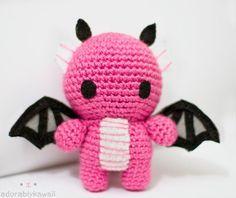 Pink Dragon Amigurumi by tinyowlknits on DeviantArt
