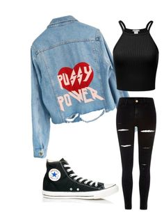 """""""Untitled #766"""" by freaky-730 ❤ liked on Polyvore featuring High Heels Suicide, River Island and Converse"""