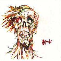 #zombie, #johngajowski, #john gajowski, #ink, #comic book, #illustration,