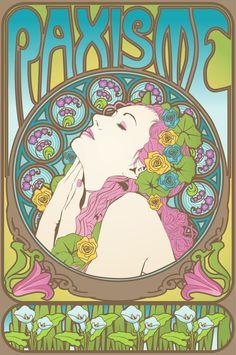 Art Nouveau (-stijl) Vrouw *Lady