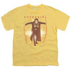 Supergirl Through The Door Banana Youth T-Shirt