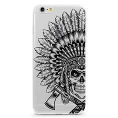 Native American Headress Skull iPhone 6 Case, Black Design, Hipster Phone Case, Clear iPhone Case, Plastic Phone Case, Boho Phone Case by LovinaCases on Etsy https://www.etsy.com/listing/245935576/native-american-headress-skull-iphone-6