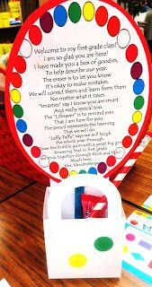 Candy poem for first graders First Grade Wow: classroom management