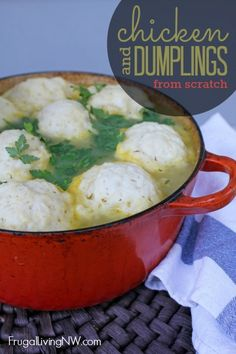 This dish is a flavorful one-bowl meal. And the best part? The dumplings can be stirred together in one mixing bowl, and the stew simmered in one pot. A filling dinner with only a few dishes? Now that's a beautiful combination.
