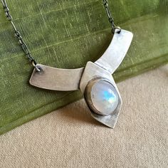 Rainbow Moonstone Amulet, Moon Stone Necklace, Gem Sterling Silver, Natural Gemstone, Birthday Present Gift for Her, Warrior Princess by SpearAndSparrow on Etsy https://www.etsy.com/listing/281085476/rainbow-moonstone-amulet-moon-stone