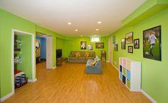 basement playroom...looks good. no windows!