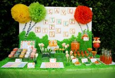 The Lorax Themed Party  Dr. Suess Party