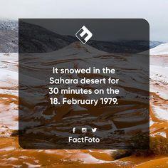 #factfoto #facts #fact #snow #sahara