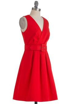 Saffron Your Mind Dress  I love red dresses!