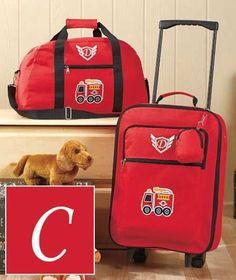 3 Pc Boy Monogram Luggage Set LETTER K Camo Rolling Suitcase ...
