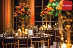 Fall Wedding Florals, persimmon, orange and gold, Touch of Elegance Floral Design