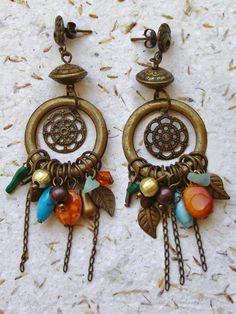 Brincos Mandala - Mandala Earrings | Beat Bijou | Elo7