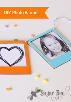 If you need decorations for your child's upcoming birthday party, try making this DIY photo banner. You can include photos of him or her growing up. The guests will love it!