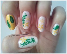 Unghiutze colorate-Happy nails: Alphabet nail art challenge - Letter Y