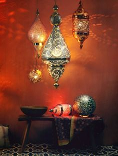 oosterse lampen - etnisch - interieur - interior inspiration
