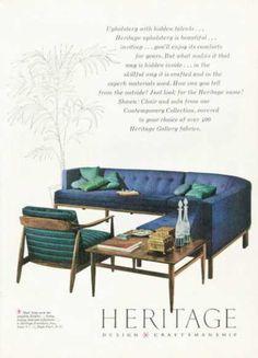 Vintage Furniture Ads of the 1950s . Heritage Design Furniture (1958)