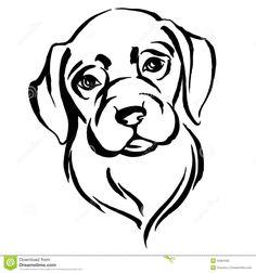 Hand Drawn Portrait Of Dog Labrador Stock Vector - Image: 55681619