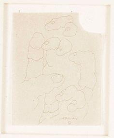 Eduardo Chillida, Spanish sculptor, hand drawings